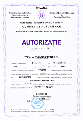 Cursuri Baze de Date autorizate ANC la Top Quality Management