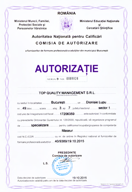 Cursuri Masaj autorizate ANC la Top Quality Management
