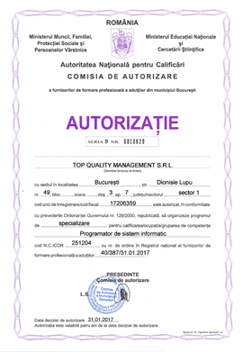 Cursuri Programare IT autorizate ANC la Top Quality Management